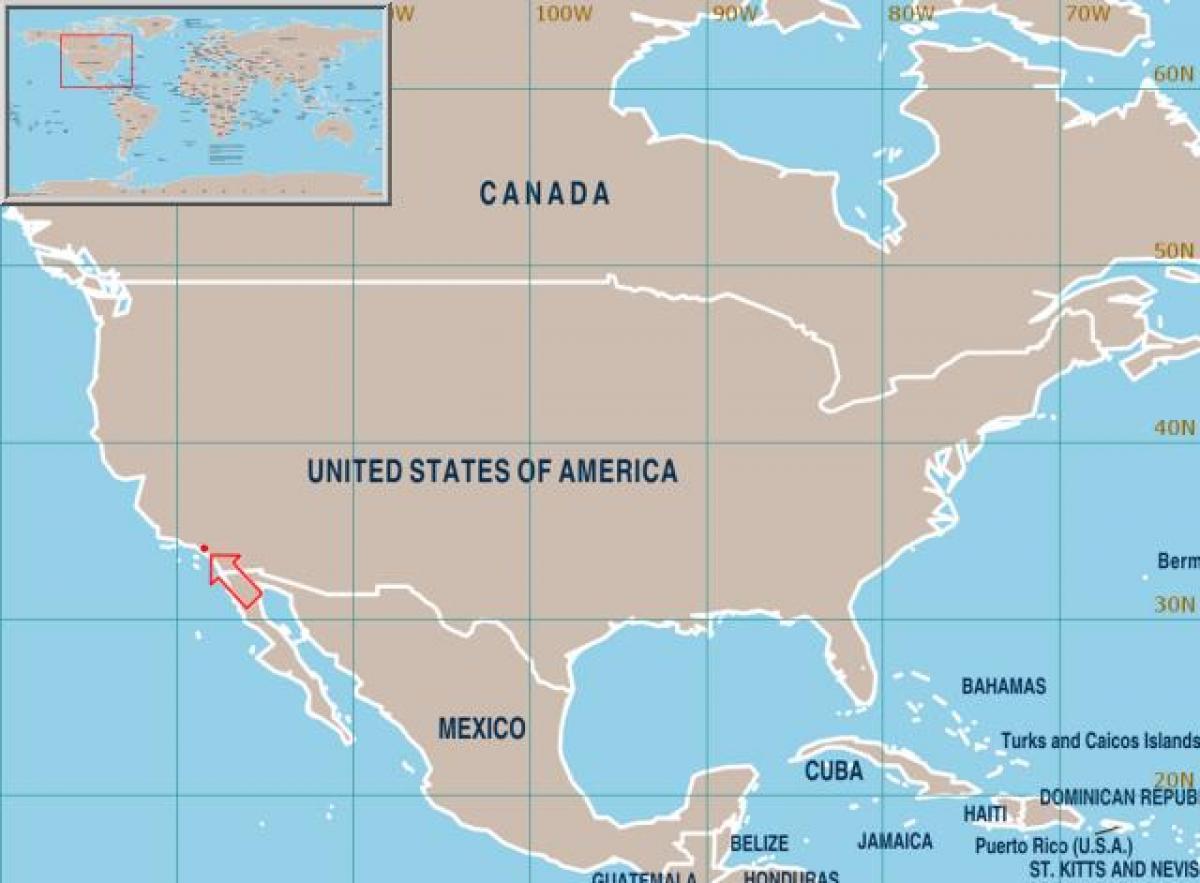 La Usa Kort La Pa Usa Kort Californien Usa