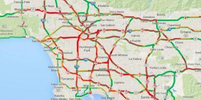 Los Angeles Kort Kort Los Angeles Californien Usa